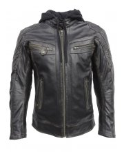 JTS Leon Mens Leather Motorcycle Jacket at JTS Biker Clothing