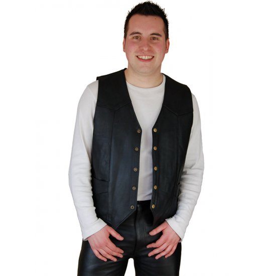 JTS 1100 Plain Leather Cowhide Waistcoat