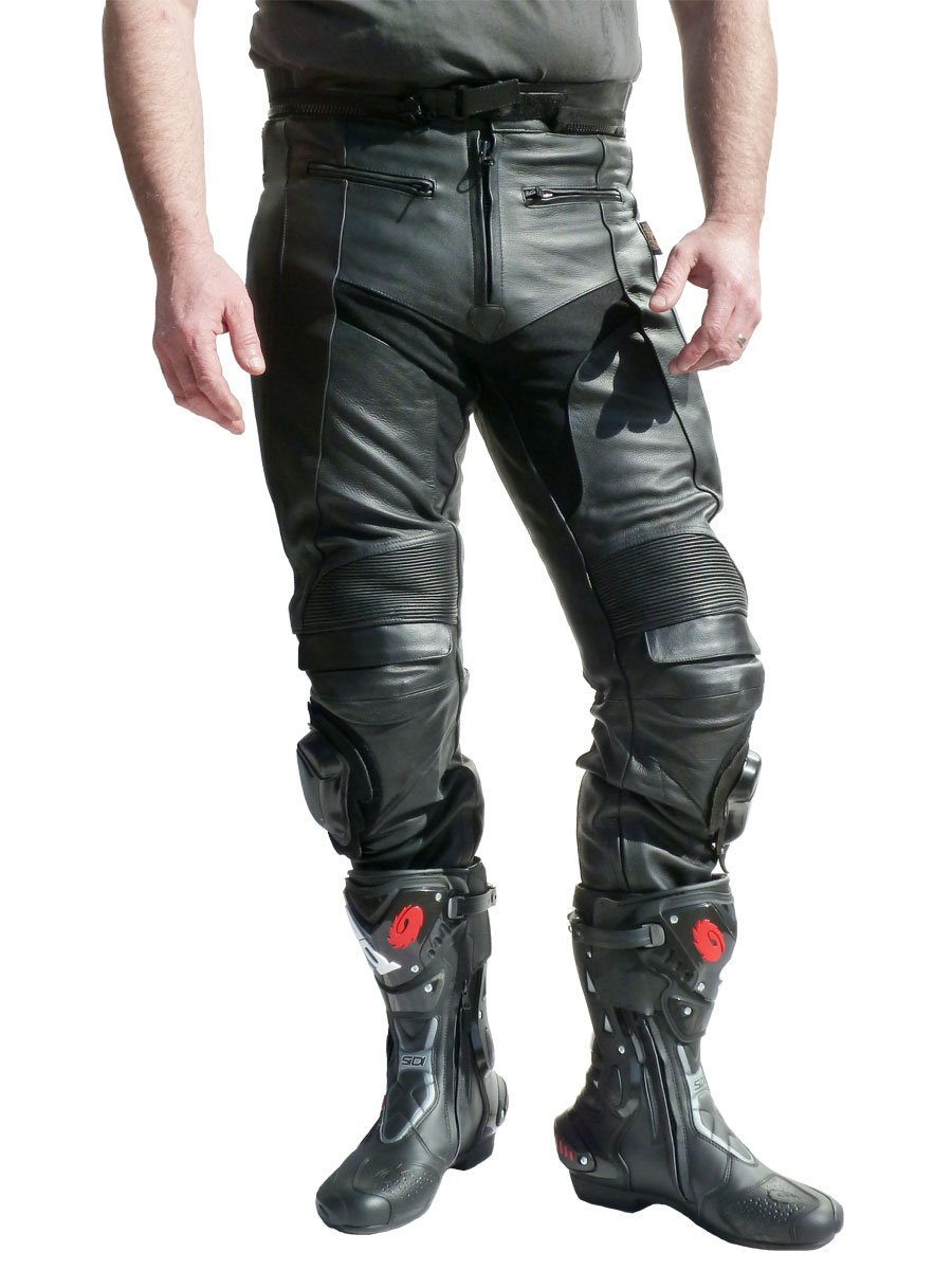Leather Motorcycle Trousers Short Leg