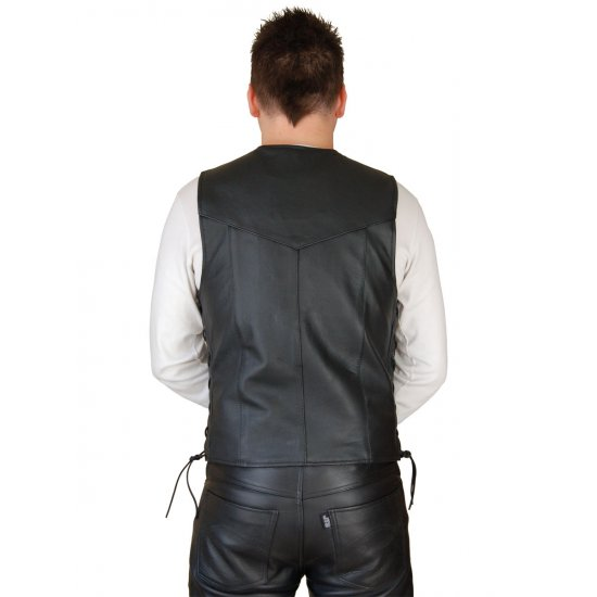 JTS 1500 Laced Leather Cowhide Waistcoat