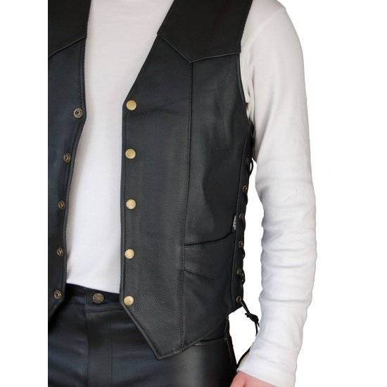 JTS 1500 Laced Leather Waistcoat