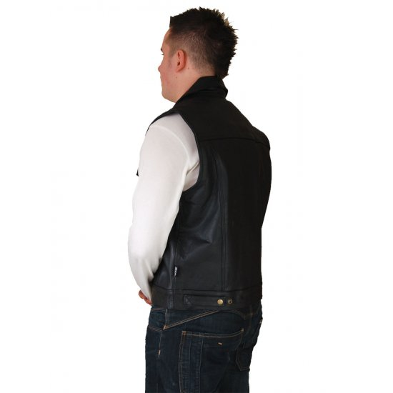 JTS 503 Leather Cut Off Style Waistcoat