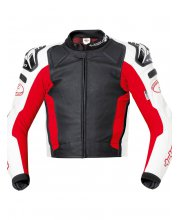 Held Safer Leather Race Motorcycle Jacket Art 5131 Red