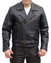 JTS 888 Mens Leather Motorbike Jacket