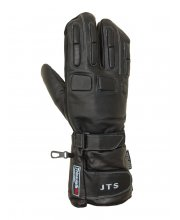 JTS Leather Motorcycle 2 Fingered Gloves