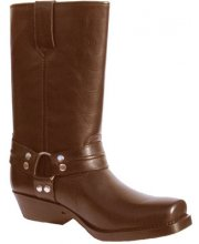 JTS Ladies 4111 Leather Cowboy Motorcycle Boots